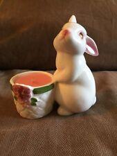 Vintage Avon Bunny Bright Ceramic Fragrance Candle Holder