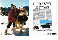 Publicité Advertising 1987 (2 pages) La camera CCD-V50 Sony