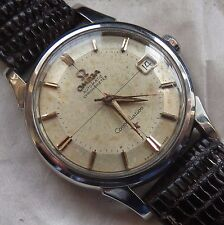 Omega Constellation PiePan Date Automatic mens wristwatch steel case