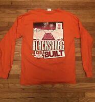 Virginia Tech Hokies Football, Long Sleeve t-shirt 2017 orange 2 side, mens sz M