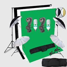 CLKIT2U 2x150W umbrella Portraint Photo Studio continuous lighting 2x3 Mete