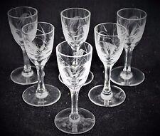 Vintage Sasaki, Wheat pattern, multi-sided stem, wine glass, set of 6, boxed