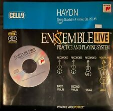 Cello: Ensemble Live String Quartet Haydn Op. 20, #5 Cd with Sheet Music