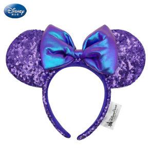 Disney Parks Resort Minnie Ears Purple Sequins Potion Kids Headband US Seller