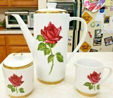 Johann Seltmann Vohenstrauß Coffee/Tea Pot Creamer Sugar Bavaria Vintage