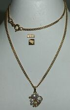 Kette mit Anhänger aus 585 Gold mit Perlen und Diamanten 0,02 ct.  (da4227)