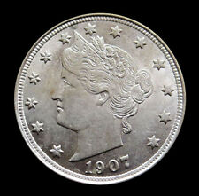 1907 UNITED STATES LIBERTY V NICKEL COIN -ABOUT UNCIRCULATED CONDITION