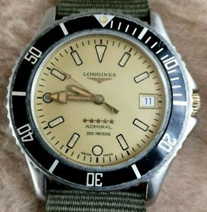 Longines ADMIRAL Divers L3.502.5 Stainless Steel Automatic 36mm MENS Watch RARE!