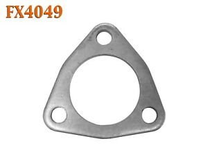 "FX4049 2 1/4"" 2.25"" ID Triangle Exhaust Flat Flange For 2"" OD Flared Y Pipe"