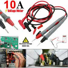 1000V 10A Digital Multimeter Leads Probes Test Clips Alligator Volt Meter Cable
