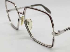 Silhouette True Vintage 421 Silver Red Size Glasses Square 56-15 1980er Large