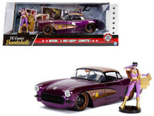 "1957 Chevrolet Corvette Purple with Batgirl Diecast Figure ""DC Comics Bombshells"