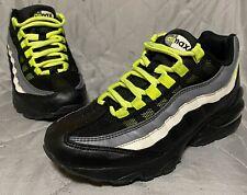 Nike Air Max 95 GS Black Volt Size 4.5 Grey 905348-022