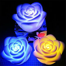 Changing Rose Flower LED Light Night Candle Light Lamp Romantic S,