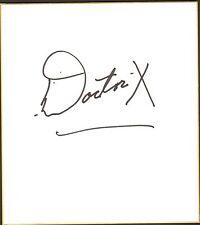 Dick Beyer The Destroyer Doctor Dr. X Signed Shikishi BAS COA WWE AWA Wrestling