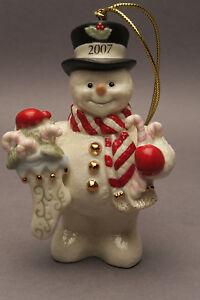 Lenox Snowman 2007 Colours Christmas Tree Decoration Christmas Decoration