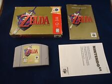 The Legend of Zelda Ocarina of Time Nintendo 64 1998 N64 COMPLETE Box manual #T1