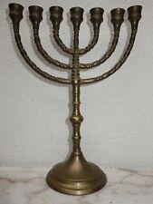 MENORA MENORAH 7-armiger traditioneller jüdischer Leuchter Kerzenständer Judaika