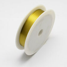 Alambre de Hierro Oro 1 Rollo 0.5mm Aprox. 7m/Rollo De Cable De Alambre De Acero fabricación de joyería hágalo usted mismo