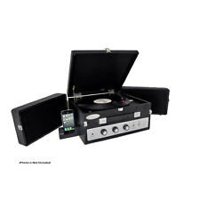 PLTTB8UI Classical Vinyl Turntable Player PC Records USB Aux In w/Speaker System