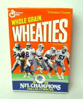 Dallas Cowboys Sealed Cereal Box Wheaties 1992 Super Bowl XXVII Rosebowl