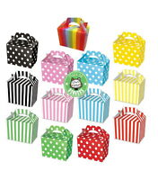 Party Boxes - Polka or Stripe Food Loot Treat Box - 13 Designs - Choose Quantity