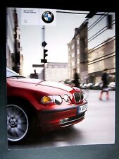 BMW 3 Series COMPACT (E46) - ORIGINAL UK 2001 BROCHURE with POSTER  316ti 325ti