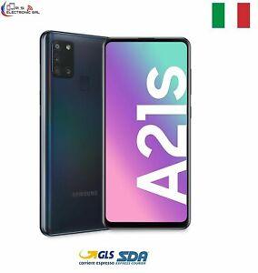"""SAMSUNG GALAXY A21S SM-A217 DUAL SIM 128GB ROM 4GB RAM 4G LTE 6,5"""" NERO  ITALIA"""