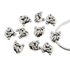 Mom and baby European charms Antique Silver Big Hole Beads fit Bracelets 10*10mm