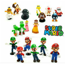 18 Super Mario Bros Full Character Kid Action Figures Doll Toy Cake Topper Decor
