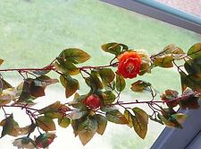 Artificial Autumn Pink Rose flower Hanging Garland Vines