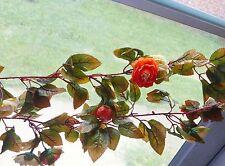 Artificial Autumn Pink Rose flower Hanging Garland Vines