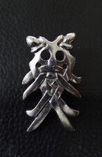 Mask of Odin Stud-back Brooch in Fine Pewter