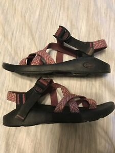 Chaco Classic Toe Loop Strap Sandal Pink Women's Size 9