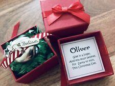 GORGEOUS CHRISTMAS JINGLE BELL gift, POLAR EXPRESS, believe, SANTA, PERSONALISED