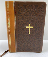 Holman KJV Large Print Compact Bible Ancient Faith Ed. RED LETTER Sim Leather
