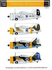 SBS Models Decals 1/72 BREWSTER MODEL 239 BUFFALO FINNISH AIR FORCE