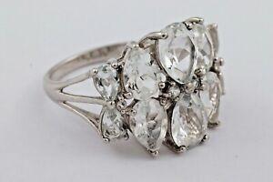 Damenring Ring Silber Stein Glas Zirkonia Größe 54 4,63gr. 925er Silber 1329
