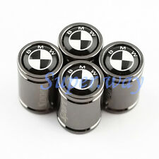 4Pcs Titanium Alloy Car Tyre Tire Air Valve Cap Accessories Black White For BMW