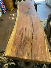 Recycled Red oak Live Edge Sofa/hall Table