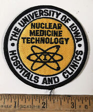 Vintage University Of Iowa Hospital & Clinics Patch Nuclear Medicine Technology