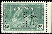 1946 Mint NH Canada VF Scott #O272 50c Perforated Peace Issue Stamp