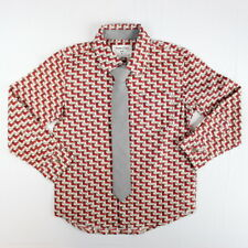 Sovereign Code Boys Winter Button Down & Tie Set Reindeer Red Christmas Size 3T