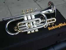 Large bore & Bell Bb Cornet Silver Gold (Bach Type)