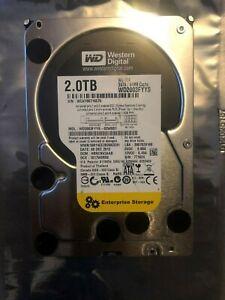 WESTERN DIGITAL WD2003FYYS 2TB 3.5 WD Enterprise Black Hard Disk Drive SATA