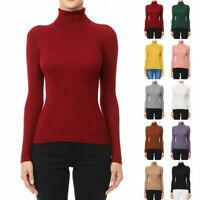 Autumn Women Cashmere Sweater Winter Knitted Turtleneck Pullover Warm Jumper New
