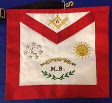 Franc-maçonnerie tablier MB brodé mains - Masonic apron