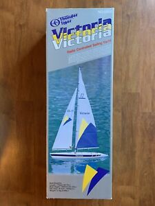 Vintage Thunder Tiger Victoria Radio Controlled Sailing Yacht No. 5556 NEW