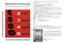 Bedienungsanweisung Anleitung 2-6 VD 14,5 /12-1 SRL DDR IFA T174 T159 Famulus