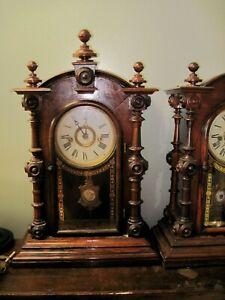 ANTIQUE E. N. WELCH PATTI ROSEWOOD MANTEL CLOCK- A BEAUTY